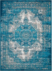 Aria Ar005 Teal Rectangle Rug 5'3'' X 7'3''