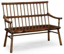 Rustic Dark Oak Country Bench