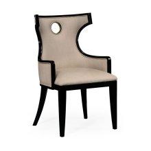 Greek Revival Biedermeier Black Armchair