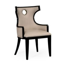 Greek Revival Biedermeier Black Armchair