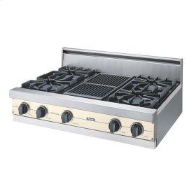 "Biscuit 36"" Open Burner Rangetop - VGRT (36"" wide, four burners 12"" wide char-grill)"