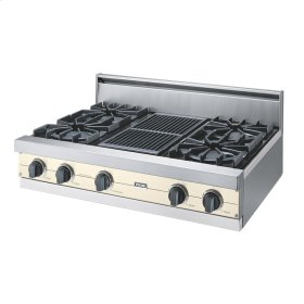 "Biscuit 36"" Open Burner Rangetop - VGRT (36"" wide, four burners 12"" wide char-grill)"