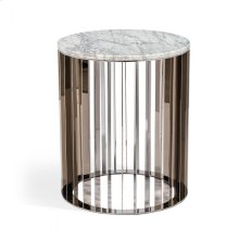 Greer Side Table - Carrara White