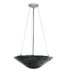 """18""""W Metro Fusion Cielo Di Notte Glass Inverted Pendant"""