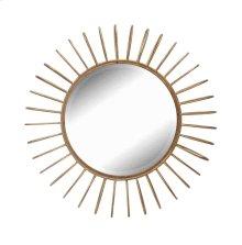 Gold Metal Sunburst Mirror