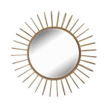 Gold Metal Sunburst Mirror