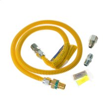 4' Universal Gas Dryer Installation Kit with Auto Shutoff