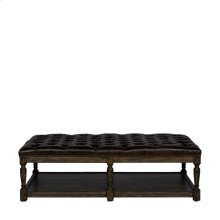 Tufted Leather Coffee Ottoman