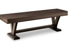 """Verona 60"""" Bench with Wood Seat"""