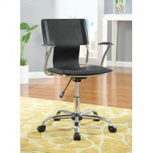 Contemporary Black Adjustable Office Chair