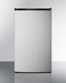 Compact Auto Defrost Refrigerator-freezer With Black Cabinet and Reversible Stainless Steel Door