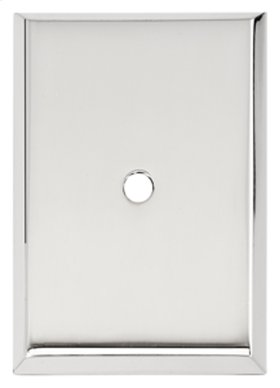 Traditional Backplate A610-14 - Polished Chrome