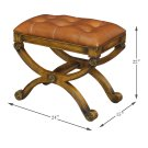 Empire Stool W/Leather Product Image
