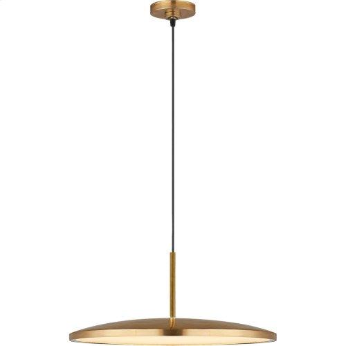 Visual Comfort PB5000NB Peter Bristol Dot LED 14 inch Natural Brass Pendant Ceiling Light