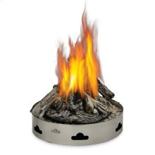 Patioflame® Propane Gas with Logs , Stainless Steel , Propane