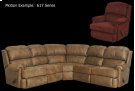 617R Rt Arm Recliner Product Image