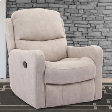 Caleste Stucco Manual Glider Recliner