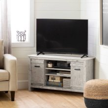 Corner TV Stand, for TVs up to 42'' - Seaside Pine