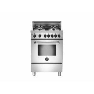 Bertazzoni24 inch 4-Burner, Gas Oven Stainless