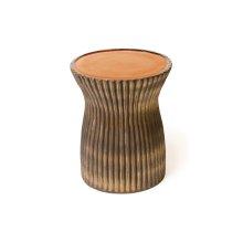 Ceramic Ridged Stool