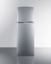 8.9 cu.ft. frost-free refrigerator-freezer in platinum, with a factory installed icemaker