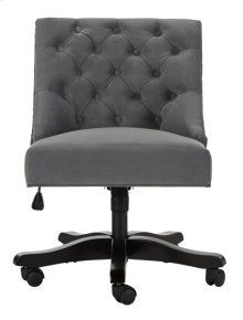 Soho Tufted Velvet Swivel Desk Chair - Grey