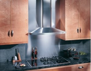 "30"", Stainless Steel, Chimney Hood, Internal Blower, 370 CFM"