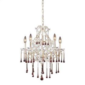 Opulence -Amber Crystal Set for 5-Light Chandelier