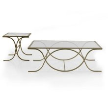 Glass BRASS Rectangular Coffee Table