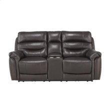 Power Double Reclining Love Seat with Console with Power Headrests
