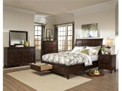 Intercon Bedroom Jackson Sleigh California King Bed-Storage Footboard