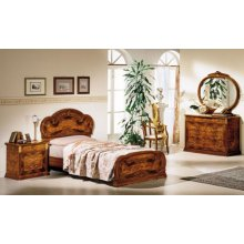 Modrest Milady Italian Single Bed with 2 Nightstands
