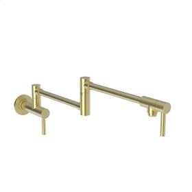 Satin Brass - PVD Pot Filler - Wall Mount