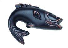 Fish Knob 2 1/4 Inch - Venetian Bronze