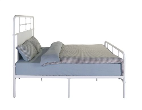 Emerald Home Fairfield Metal Bed Snowdrop White B202-12hbfbrwht