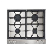 "Vario gas cooktop 200 series VG 264 214 Stainless steel control panel Width 30"" Equipped for natural gas."