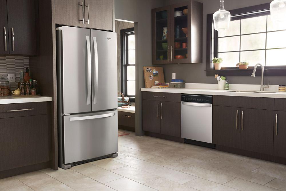 WHIRLPOOL 33 Inch Wide French Door Refrigerator   22 Cu. Ft.