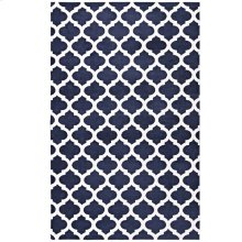 Lida Moroccan Trellis 5x8 Area Rug in Navy and Ivory