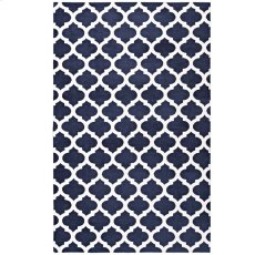 Lida Moroccan Trellis 5x8 Area Rug in Navy and Ivory Product Image