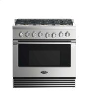 "36"" Dual Fuel Range: 6 Burners Product Image"