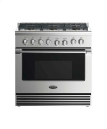 "36"" Dual Fuel Range: 6 Burners"