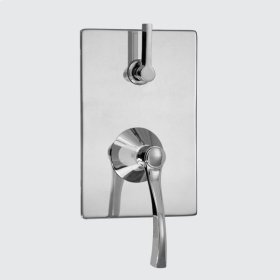 E-Mini Thermostatic - Integrated Rectangle Plate - Trim only with Maya handle
