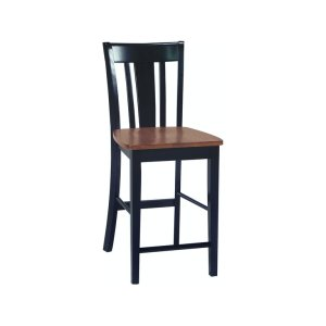 JOHN THOMAS FURNITURESan Remo Stool in Black & Cherry