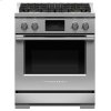 "Fisher & Paykel Dual Fuel Range, 30"", 4 Burners, Self-Cleaning, Lpg"