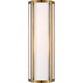 Visual Comfort AH2023NB-WG Alexa Hampton Basil 1 Light 6 inch Natural Brass Bath Wall Light