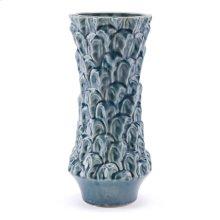 Textured Md Vase Blue