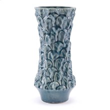 Textured Md Vase Blue