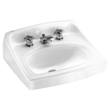 Lucerne Wall Mounted Sink - White