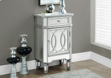 "ACCENT TABLE - 29""H / BRUSHED SILVER / MIRROR"