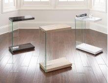 "Elaina Chair Side End Table, Light Oak, 18.5""x10""x25"""